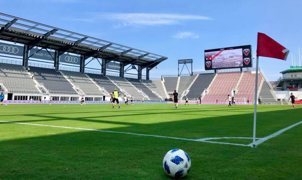 D.C. United Training in Audi Field Stadium