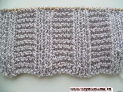 Motivi per sciarpe a maglia con maglieria