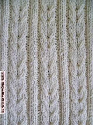 Spit Pattern con elastici 2x2 per sciarpa