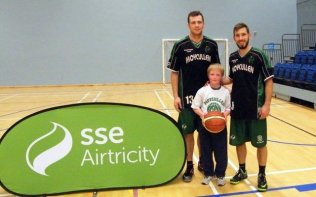 Senior players Dylan & James with a young star
