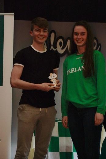 U17 Boys Player of the Year Lorcan O'Mordha