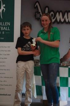 U12 Boys Player of the Year Rory O'Sullivan