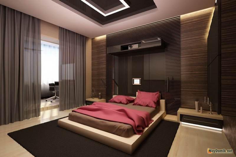 красивые спальни дизайн фото в доме частном 6
