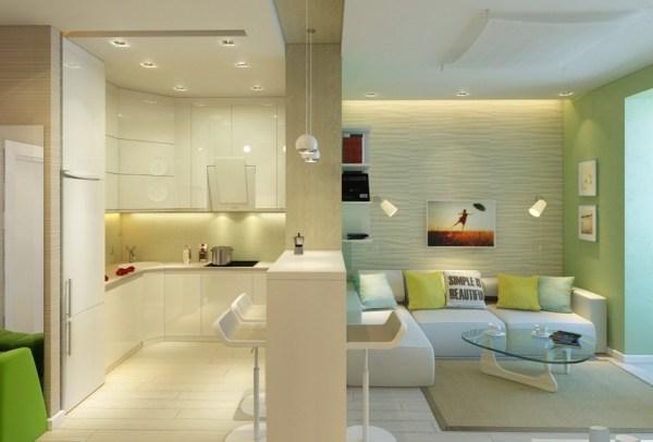 Дизайн кухни студии – интерьер кухни в квартире студии ...
