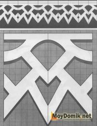 Шаблон наличников на окна - 8