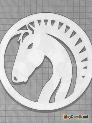 Эскиз наличников на окна - конь