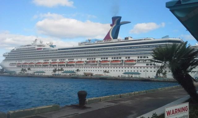 Carnival cruise ship liberty docked in Nassau