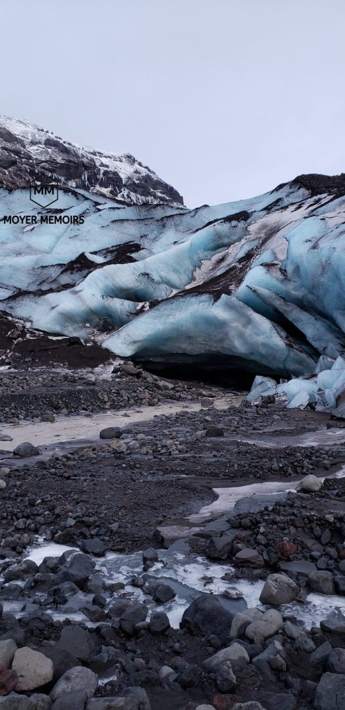 Glacier cave in Iceland