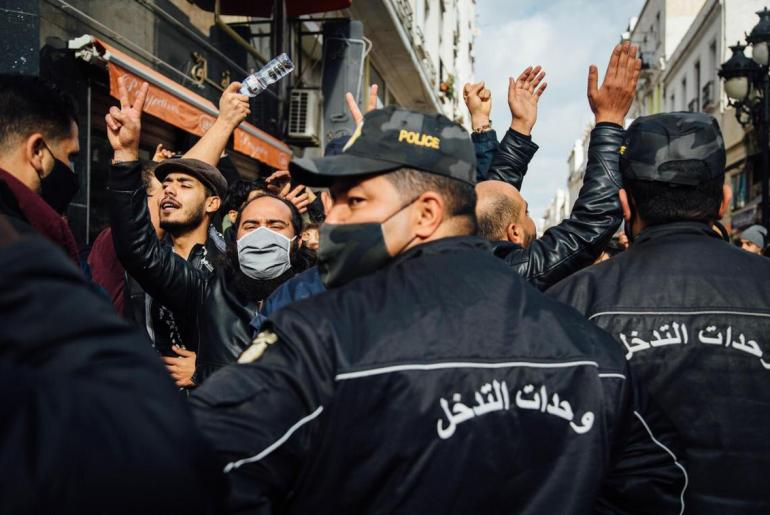 Tunisia protest over economic woes