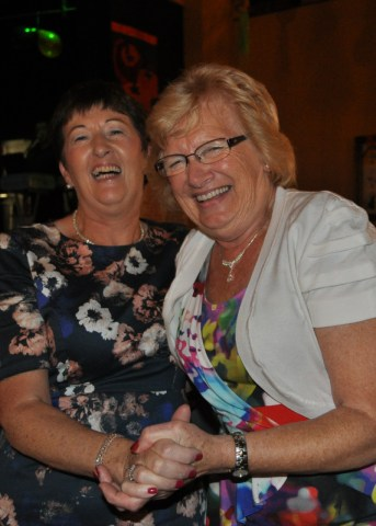 The ladies know how to enjoy themselves, Noreen & Eileen Roche