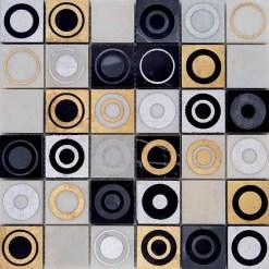 Mozaiek Luxor Goud Cirkels