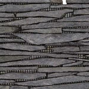Gebroken Steen Strips Zwart