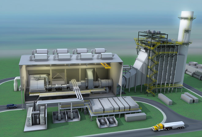Gas fired power plant