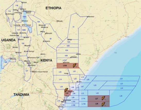 CAMAC Energy's Kenyan assets - including Blocks L1B & L16