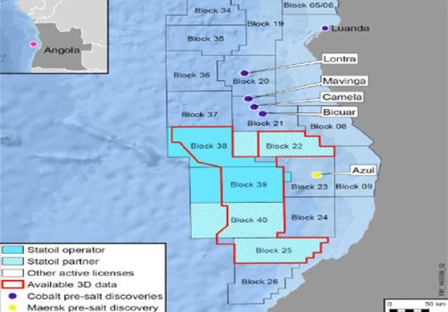 Statoil Angola exploration blocks