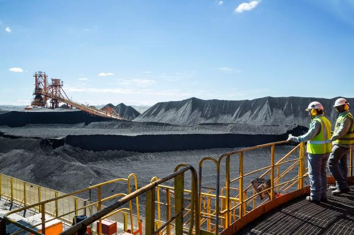 Vale worker at Moatize Coal Mine, Tete, Mozambique
