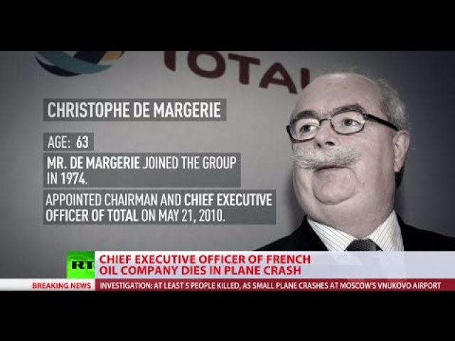 The chief executive of French oil major Total, Christophe de Margerie, was killed when a business jet collided with a snow plough during takeoff