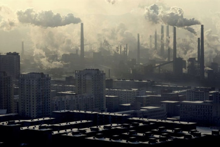 Industrial pollution in Benxi, China