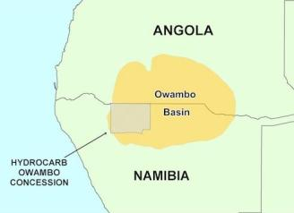Owambo Basin blocks, onshore Namibia