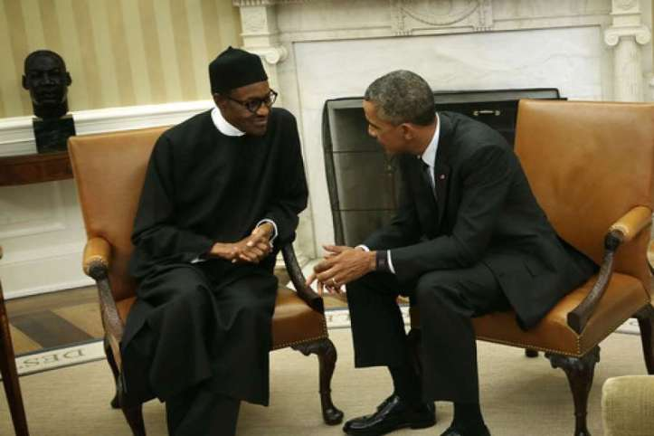 Nigeria Presidents Buhari and Obama at the Oval office