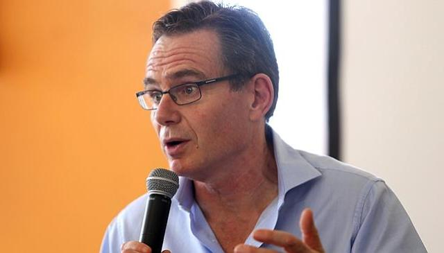 """""""We are deeply sorry."""" BHP Billiton CEO Andrew Mackenzie at a press conference in Brazil. Source: AFP"""