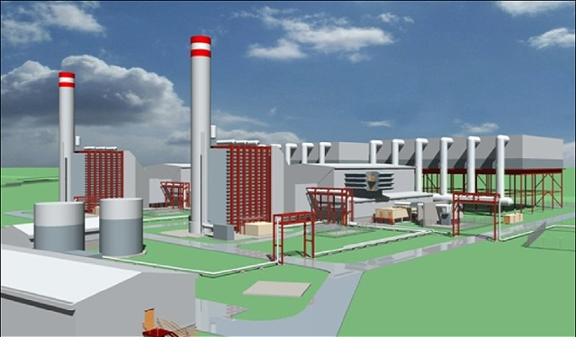 Sample design of a Gas-fired power plant