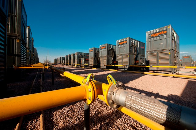 Aggreko - The Gas Fired 175MW Ressano Garcia power plant in Mozambique.