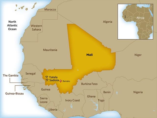 Mali-Guinea Gold Mining sadiola-yatela-location-map