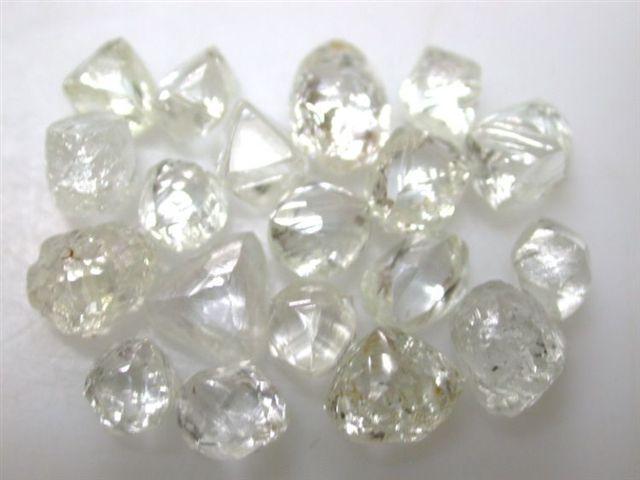 Diamon - rough diamonds