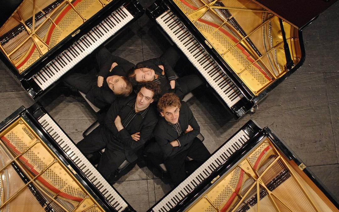 Entre o clássico e o jazz, o Gershwin Piano Quartet traz sua arte inovadora e eletrizante para São Paulo