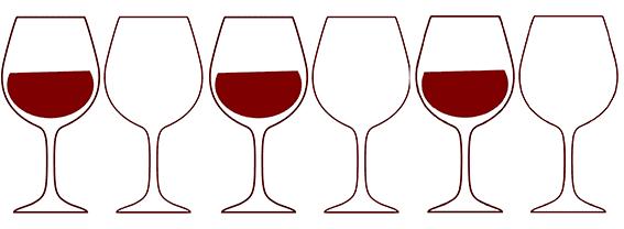 Šest sklenic
