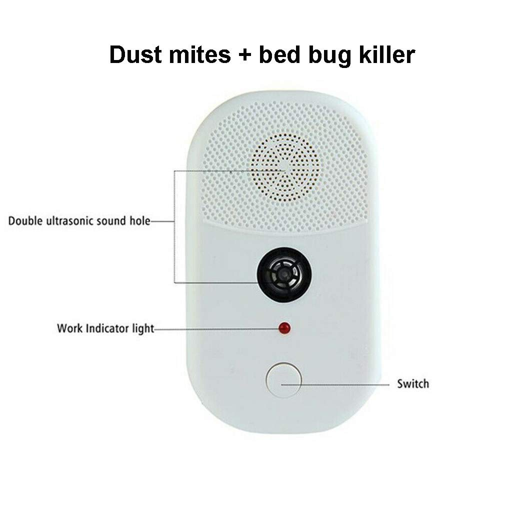 New Bed Bug /& Dust Mite Killer Repeller Ultrasonic Wave Technology Household Out
