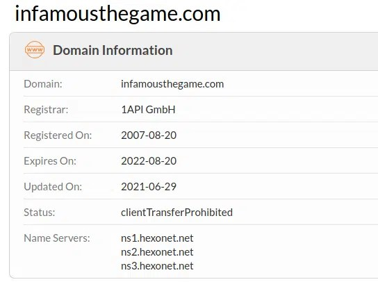 infamous domain name