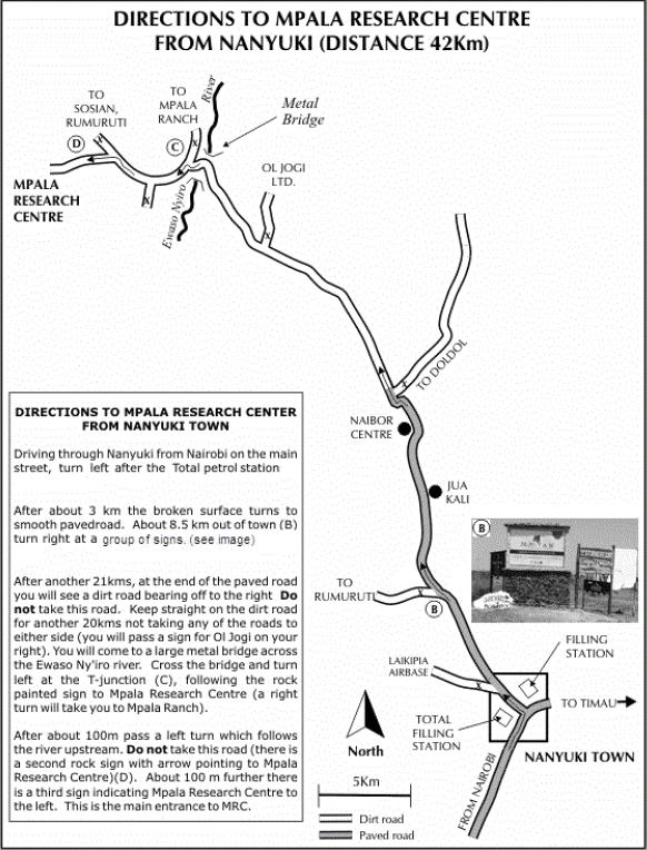 Directions to Mpala from Nanyuki