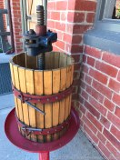An old basket press at their cellar door.