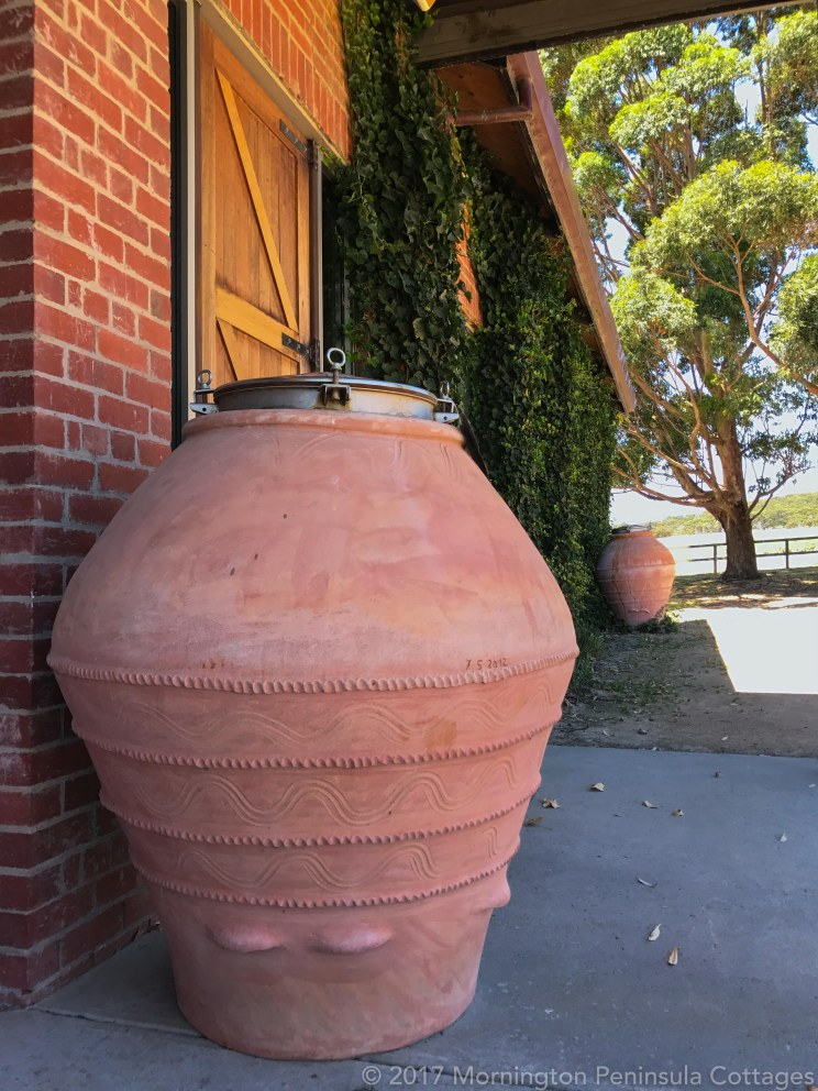 Many of the Trofeo Estate wine are aged in their Terracotta Amphorae.