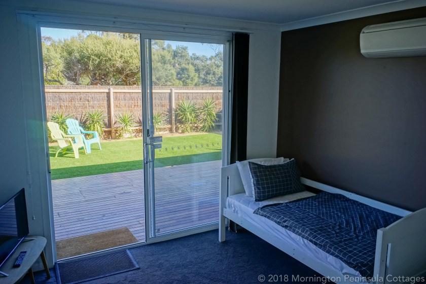 bedroom courtyard view