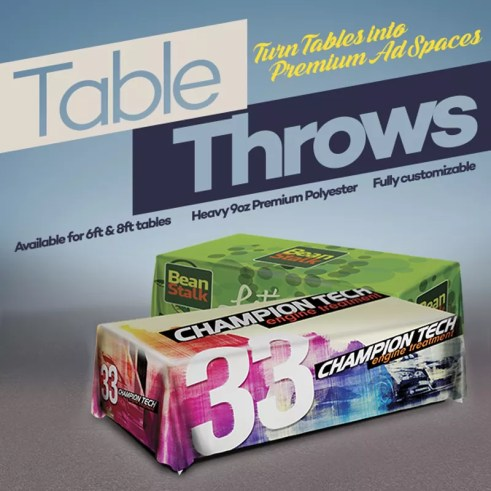 Table Throw Printing