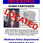 MISSING JUVENILE ELINA FANTAUZZI LOCATED!