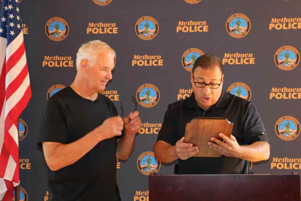 Lt. Korn with Chief Solomon