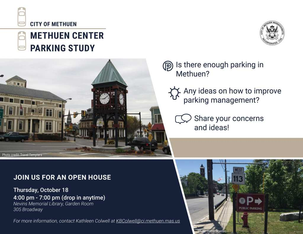 City of Methuen Parking Study - Open House Flyer