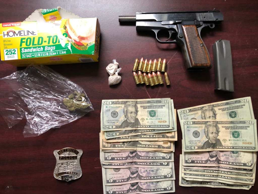 Methuen Police Arrest Four on Gun & Drug Charges