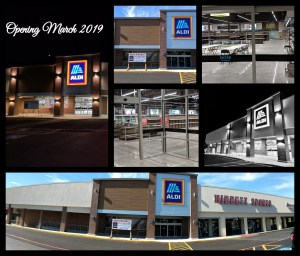 various Aldi store fronts