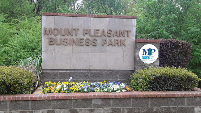 Mount Pleasant Business Park sign