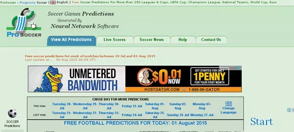 ProSoccer Free Football Predictions