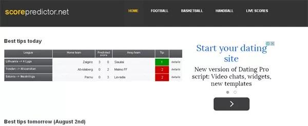 ScorePredictor Soccer Predictions