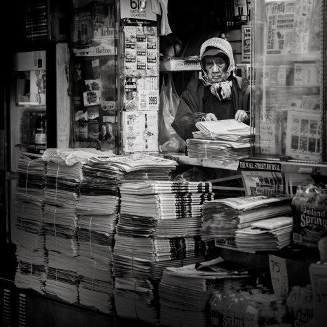 News Stand Vendor by Richard Wood