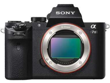 The Sony A7II mirrorless camera.