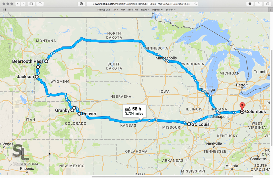 BP-RAM-0819201701-I003 - Route Map - Great American Eclipse Road Trip 2017