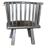 Rustic Welsh child's windsor chair early 19th